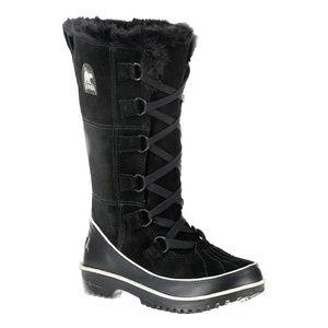 Sorel Tivoli High Black Suede Boots size 7